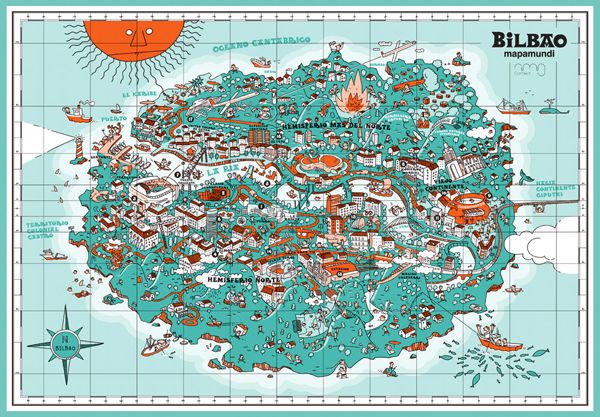 Bilbao Spain Map an Illustrative Map of Bilbao